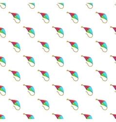 Flying kite pattern cartoon style vector