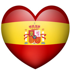 Heart shape icon for spain flag vector