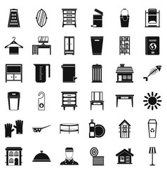 Housework icons set simple style vector