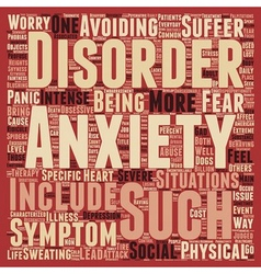 How is your anxiety today text background vector
