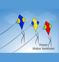 Indian festival makar sankranti vector