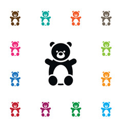 Isolated teddy icon doll element can be vector