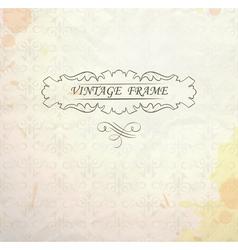 Light vintage background vector image vector image