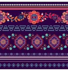 Lines paisley seamless pattern vector