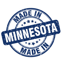 Made in minnesota blue grunge round stamp vector