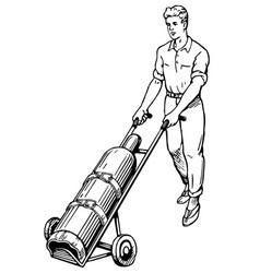 Man with gas balloon vector