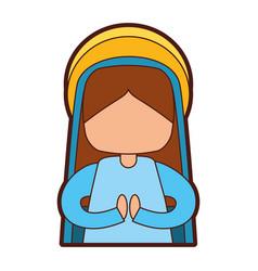 Mary virgin manger character vector