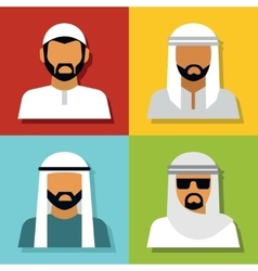 Middle Eastern people avatar vector image vector image