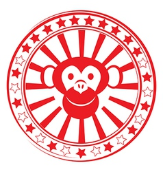 Monkey stamp vector