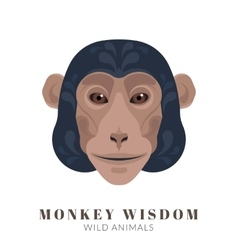 Monkey wisdom vector image vector image