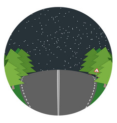 night road flat landscape vector image