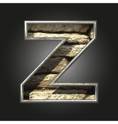 Old stone letter z vector