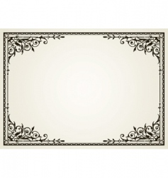 Ornate swirl frames vector