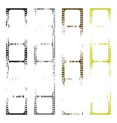 Set of old films vector image