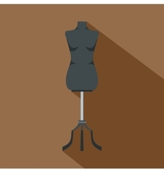 Sewing mannequin icon flat style vector image vector image