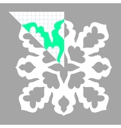 Stencil ornament for hand made snowflake vector