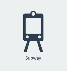 Subway icon silhouette icon vector