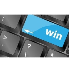 win word on computer keyboard key button Keyboard vector image vector image
