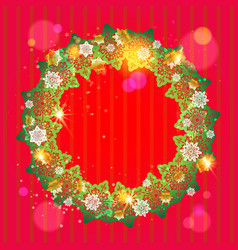 Winter festive frame vector