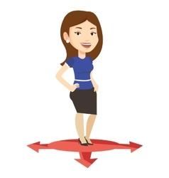 Woman choosing career way vector image vector image