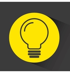 bulb with gear isolated icon vector image
