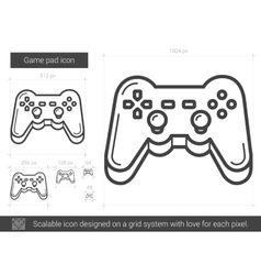 Game pad line icon vector