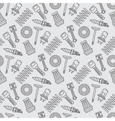 Line flat seamless background pattern with piston vector