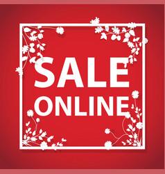 sale online arrow sign vector image