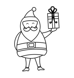 Cute santa claus character vector