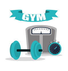 Gym equipment training image vector