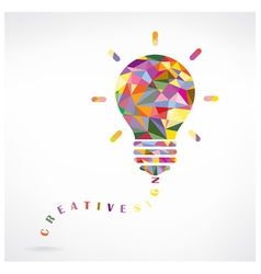 Creative light bulb idea concept vector