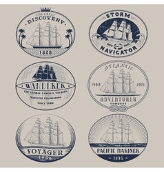 Nautical labels vector image