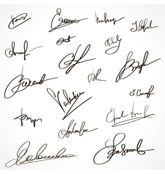 Signatures set group of imaginary autograph vector