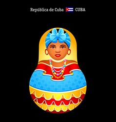 Matryoshka Cuba vector image