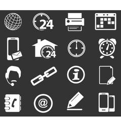 Community icons set vector