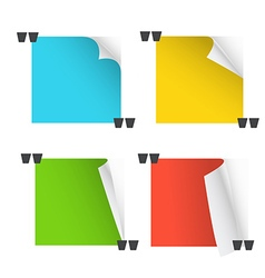 Collection of different paper messages vector image
