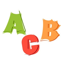 Letters a b c in different style vector