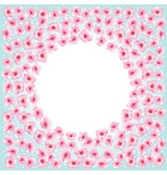 Blossom flowers frame vector image vector image
