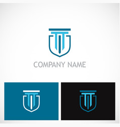 building shield company logo vector image