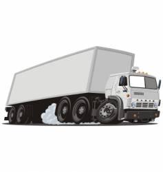 cargo truck vector image vector image