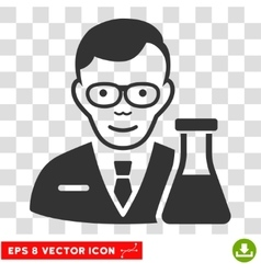Chemist eps icon vector