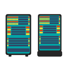 database server icon flat vector image