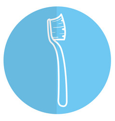 dental toothbrush isolated icon vector image vector image