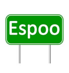 Espoo road sign vector image vector image