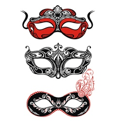 Festive masks silhouette vector image vector image