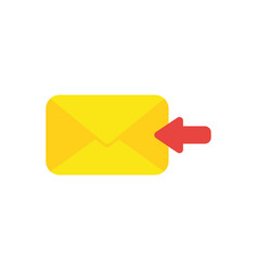 Flat design concept of receive message or email vector