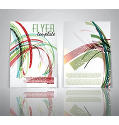 flyer template 1803 vector image