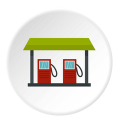 Gas station icon circle vector