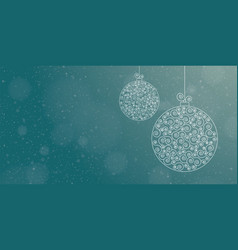 greeting card template with two christmas balls vector image