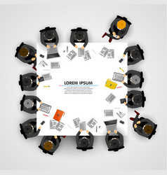 group of business people working in office vector image